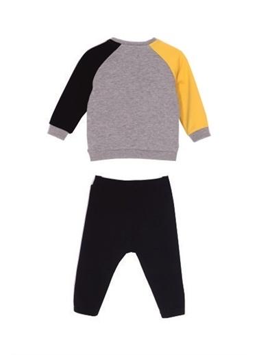 Silversun Kids Bebe Erkek Baskılı Sweatshırt Ile Sweatpantolon Takım - Kt 116645 Sarı
